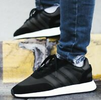 New ADIDAS Originals Iniki I-5923 Leather Athletic Sneaker Mens black all sizes