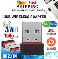 Wireless 150Mbp Dongle Mini USB WiFi 802.11 B/G/N Network Adapter for Laptop PC