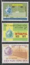 1973 South Vietnam Stamps INTERPOL Emblem and Headquarters Sc # 451 - 53 MNH