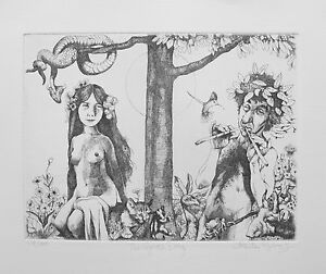 CHARLES BRAGG THE EIGHTH DAY Hand Signed Limited Edition Etching RARE!