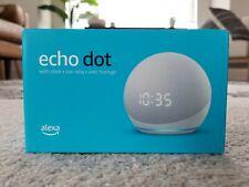 BRAND NEW Echo Dot (4th Gen) Smart speaker with clock and Alexa | Glacier White