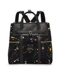 Henri Bendel Jetsetter Large Convertible Splatter Paint Backpack Bag  NEW NWT