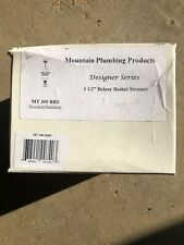 """Mountain Plumbing Mt300Brs 3-1/2"""" Kitchen Strainer - Brushed Stainless"""