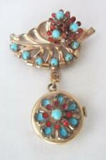 Vintage WYLER Watch Pendant - Hanging From Leaf   Circa 1940's 1950 Flower