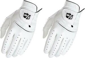 Wilson Staff FG Tour Pure Feel 2 Leather Gloves Mens XL Cadet Worn Left Hand