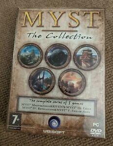Myst Ultimate 5 Game Compilation 5 Disc PC Release Ubisoft Mint Sealed