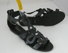 Summer Black Womens Shoes Roman Gladiator Flat Sandals Size 6.5