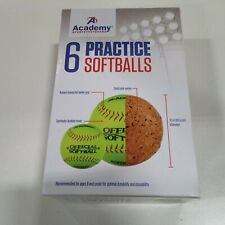 Academy Sports and Outdoors Practice softballs, 6 pack