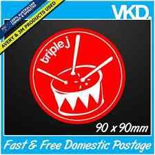 Triple J Sticker/ Decal - UNOFFICIAL JJJ Radio Vintage Drum Retro Drift ILLEST