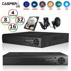 4/8/16 Channel AHD 1080N Video Recorder CCTV Smart Security DVR HD VGA HDMI BNC