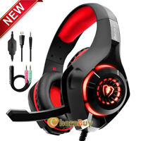 2020 For PS4 Xbox One Nintendo Switch PC Stereo Wired Gaming Headset 3.5mm w/Mic
