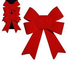 2 Red FIOCCHI VELOUR Albero di Natale topper DECORAZIONE NATALE ADDOBBO PARTY FESTA