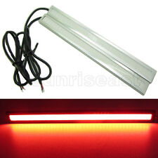 2 x Red COB Car LED Light DRL Daytime Runing Driving Fog Lamp Silver Aluminum