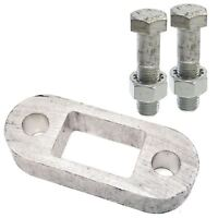 """Medium Tow Bar Ball Spacer Trailers Caravans 1"""" & 65mm Long Bolts Nuts Washers"""