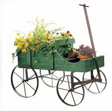Wooden Garden Planter Wagon Display Indoor Outdoor Decorative Patio Furniture