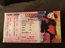 More details for madonna used sticky and sweet tour ticket stub wembley stadium