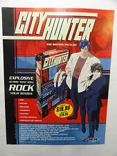 CITY HUNTER THE MOTION PICTURE SLICK AD SHEET FOR VHS RELEASE 1999 2 SIDED MINT
