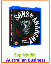SONS OF ANARCHY - COMPLETE BLU RAY SERIES SEASON 1, 2, 3 & 4 - BRAND NEW SEALED