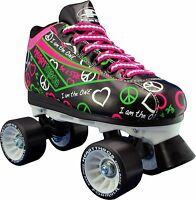 Black Indoor Skate - Pacer Heart Throb Women Roller Skates