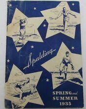 Vintage 1935 Spalding Spring and Summer Equipment Catalog  129491