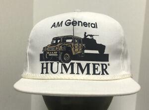 AM GENERAL HUMMER & HUMVEE SnapBack Adjustable Hat Rope Braid Cap Made USA vtg