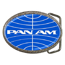 PAN AM AIRLINES REPRO LOGO BELT BUCKLE - GREAT GIFT ITEM
