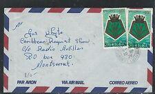 ST LUCIA  (P2608B) 1976 10C PLANTX2 SENT INTERISLAND TO MONTSERRAL