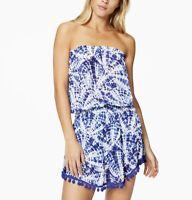 Ramy Brook NWT $265 Women's Marcie Dress Swim Cover-Up Pom Pom Tie Dye