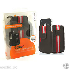 Cygnett Boston Leather Custodia Sleeve per iPhone 4/4S - Marrone Rrp £ 25 NUOVO