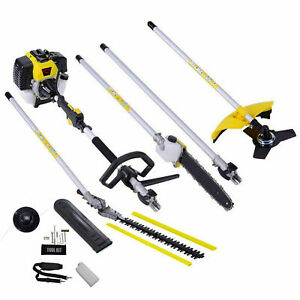 Garden 5 in 1 Multi Tool Hedge Trimmer Petrol Strimmer chainsaw brush extra
