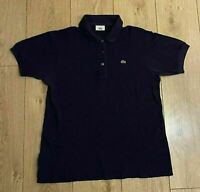 Lacoste Men's Polo T Shirt Navy Blue F5191 Size 42 Small Short Sleeve Cotton