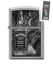 Zippo 6610 Jack Daniel's Tennessee Whiskey Old No 7 Lighter + FLINT PACK