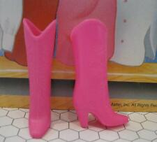 vtg Western Clothes-Superstar Barbie fit Skipper Too-Cowboy Boots shoes-Hot Pink