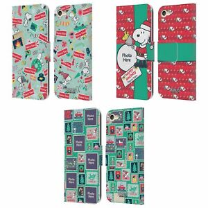 CUSTOM PERSONALIZED PEANUTS CHRISTMAS LEATHER BOOK CASE FOR APPLE iPOD TOUCH MP3