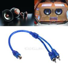 1pc 30cm 2 RCA Male to 1 RCA Female Copper Aluminum Cable for Car Audio