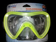 Shark Junior Swim Mask Wave Sports ages 6-12 Diving Snorkeling Yellow