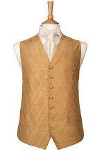 da uomo ragazzo, elegante seta oro vestito da MATRIMONIO GILET 34 36 38 40 42