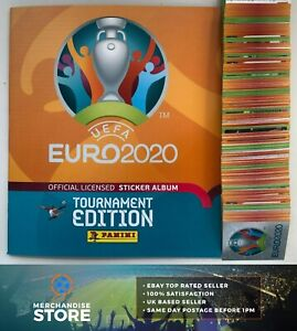 PANINI EURO 2020 TOURNAMENT EDITION COMPLETE 678 STICKER SET & HARD COVER ALBUM