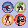 70 x MIXED Marvel Superheroes Stickers NON Personalised Merry Christmas - X10