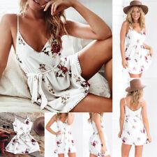 New Women Summer Casual Dress Maxi Party Evening Mini Dress Beach Floral dress