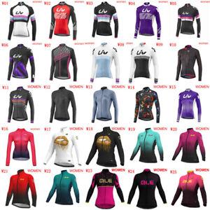 2020 Women Cycling jersey long sleeve bicycle shirt bike uniform Racing Tops