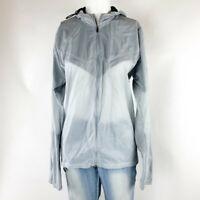 Women's Nike Running Lightweight Double Zip Jacket With Hood- Size Medium