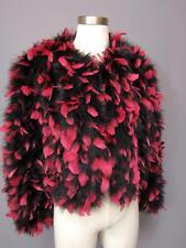 dd35bb01a19 Amazing Vintage Neiman Marcus Marabou & Feather Black Pink Jacket M