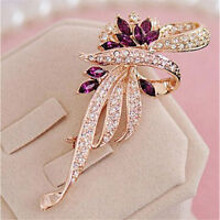 Fashion Crystal Brooches Lovely For Female Retro Fashion Womens Jewelry Gift U_X