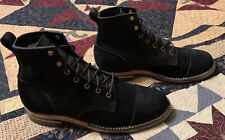 Truman Boots Black Chamois Rough out , 10.5 D