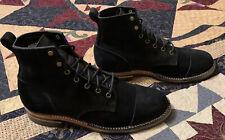 Truman Boots Black Chamois Rough out , 10.5 D