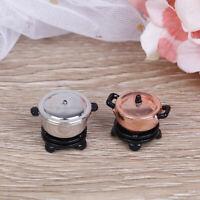 1:12 Dollhouse mini pot with furnace simulation miniature kitchen model toyBB