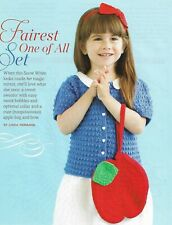 Fairest One Of All Sweater & Purse 3 Child Sizes Crochet Pattern Instructions