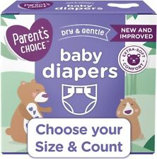 Parent's Choice Disposable Diapers Dry And Gentle Choose Size & Count, Fast Ship