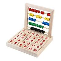 Wooden Math Counting Blocks Educational Learning Number Abacus Kids Toys JJ